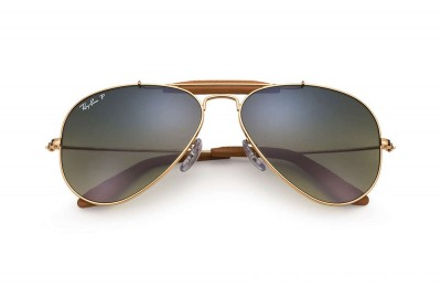 Ray-Ban AVIATOR OUTDOORSMAN CRAFT - RB3422Q-001-M9-58-14 - Ray Ban Black Friday Deal