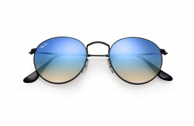 Ray-Ban ROUND FLASH LENSES GRADIENT - RB3447-002-4O-50-21 - Ray Ban Black Friday Deal