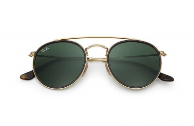 Ray-Ban ROUND DOUBLE BRIDGE - RB3647N-001-51-22 - Ray Ban Black Friday Deal