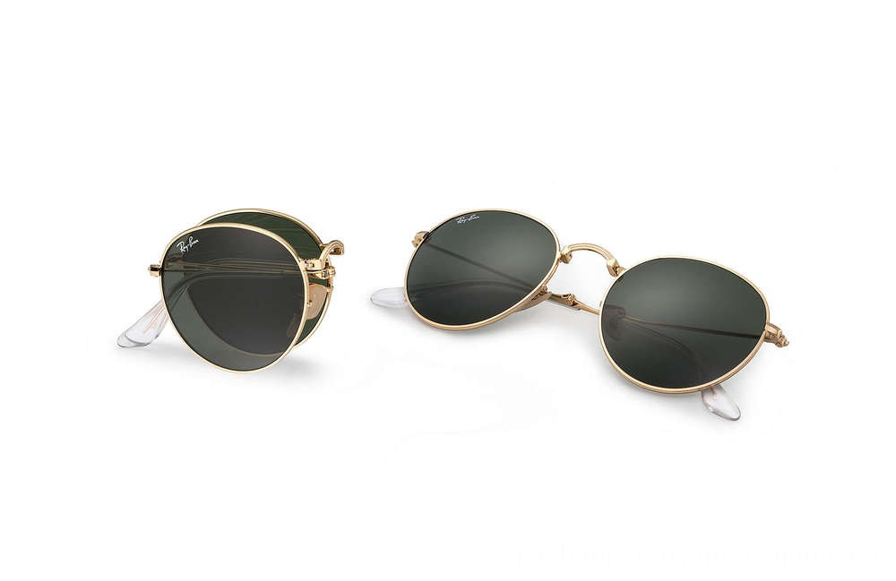 Ray-Ban ROUND METAL FOLDING - RB3532-001-50-20 - Ray Ban Black Friday Deal