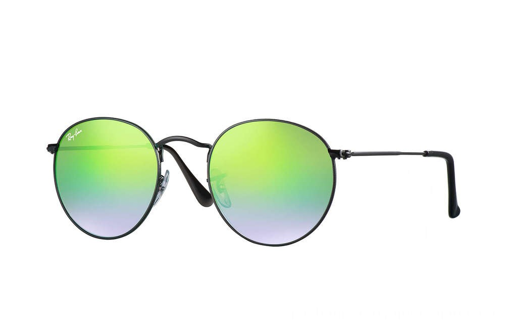 Ray-Ban ROUND FLASH LENSES GRADIENT - RB3447-002-4J-50-21 - Ray Ban Black Friday Deal