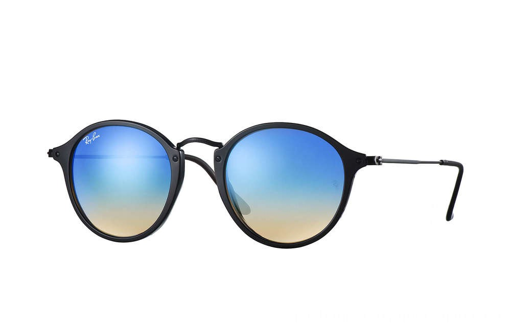 Ray-Ban ROUND FLECK FLASH LENSES GRADIENT - RB2447-901-4O-49-21 - Ray Ban Black Friday Deal